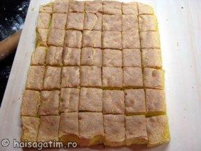 Taiere cuburi blat prajitura tavalita in nuca de cocos