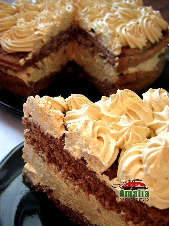 Tort cu crema caramel (tort)   imagine reteta