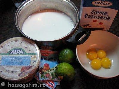 Tort de limette cu branza (437)   imagine reteta