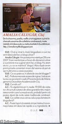 Aparitia in revista Elle (Aparitie ELLE 1)   imagine reteta