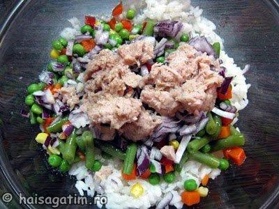 Salata cu orez, legume si ton (IMG 0327)   imagine reteta