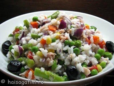 Salata cu orez, legume si ton (IMG 0331)   imagine reteta