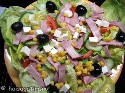 Salata cu sunca si branza (IMG 33433)   imagine reteta