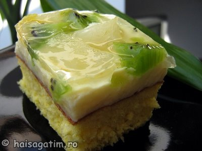 Prajitura rapida cu crema si fructe (IMG 36922)   imagine reteta