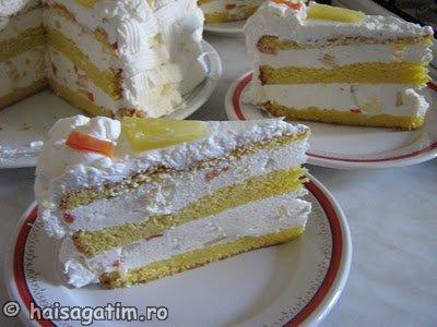 Tort cu iaurt si frisca (IMG 5498)   imagine reteta