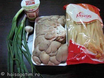 Paste cu ciuperci in sos de smantana (IMG 5606)   imagine reteta