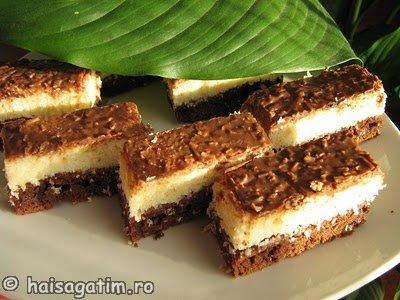 "Prajitura cu cocos ""Bounty bars"" (IMG 574545)   imagine reteta"