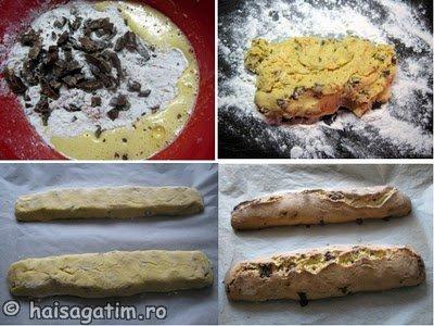 Biscotti cu ciocolata (biscoti1)   imagine reteta