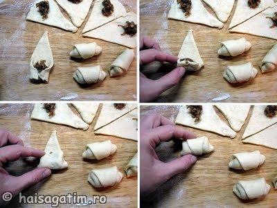 Cornulete cu mere caramelizate si nuci (cornulete3)   imagine reteta