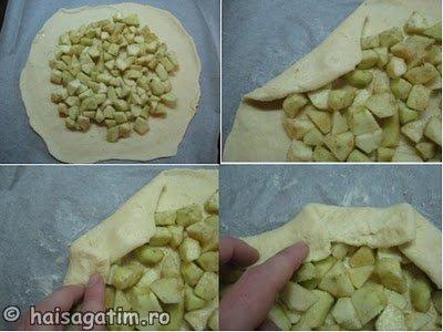 Tarta rustica ( galette) cu mere (galette3)   imagine reteta