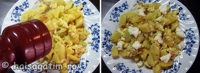 Mancare rapida cu ou si cartofi (mancart22)   imagine reteta