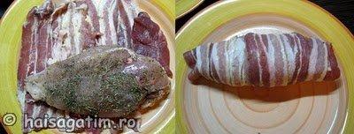 Piept de pui invelit in bacon (piept1)   imagine reteta