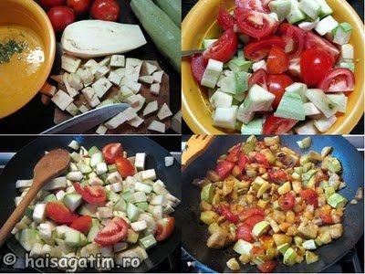 Piept de pui cu legume la tigaie (pieptculegume1)   imagine reteta
