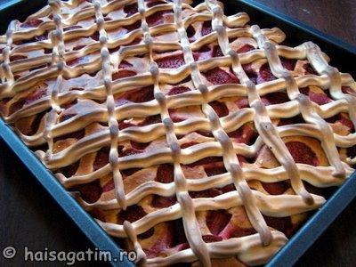 Prajitura cu fructe (capsuni) (prf6)   imagine reteta