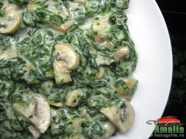 Piure de spanac cu ciuperci (spanacc0)   imagine reteta