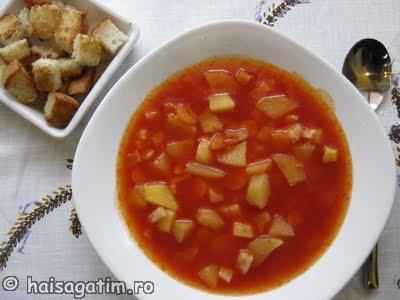 Supa de rosii cu cartofi (supr1)   imagine reteta