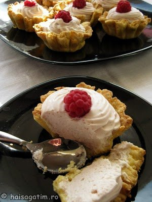 Tarte fragede cu crema de iaurt si frisca (tarte03)   imagine reteta