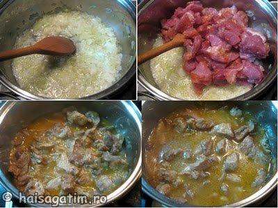Tocana de porc cu ceapa (tocana1)   imagine reteta