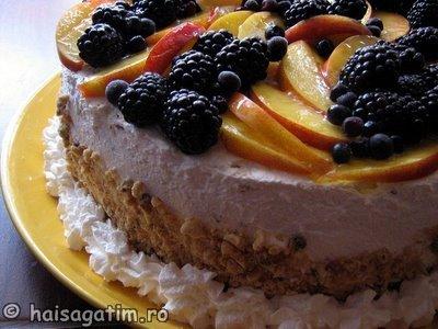 Tort Fantezie cu afine, mure si ananas (tortfan2)   imagine reteta