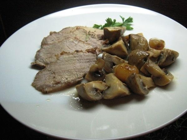 Cotlet de porc cu ciuperci (IMG 0242)   imagine reteta