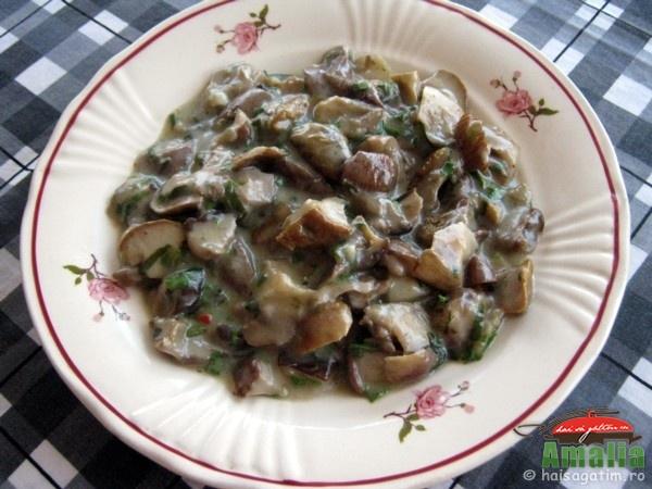 Ciuperci cu ceapa verde si leurda (ciuperci0)   imagine reteta