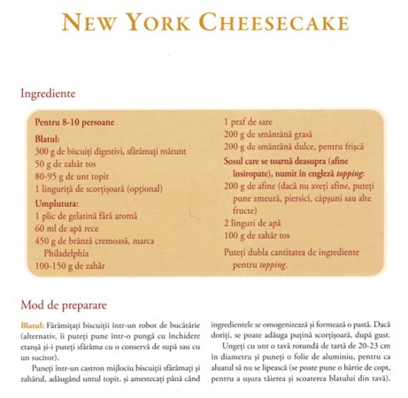 New York Cheescake (new york 0001 NEW1)   imagine reteta