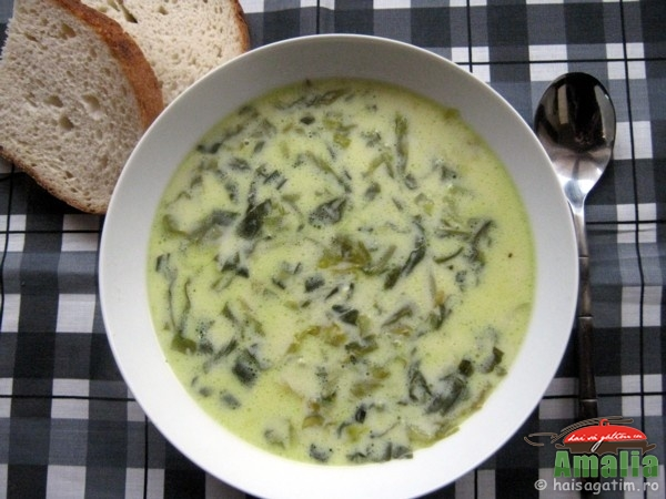 Supa de salata cu lapte (salata0)   imagine reteta