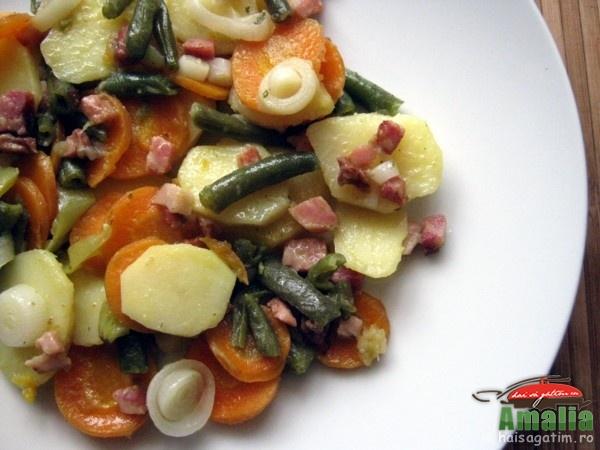 Mancare cu legume si bacon (mancarecubacon02)   imagine reteta