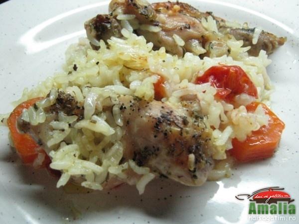 Pui cu legume si orez la cuptor (pulpedepuiculegume0)   imagine reteta
