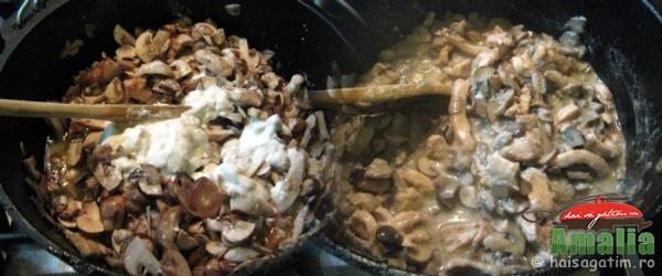 Pui cu ciuperci si smantana (pui cu ciuperci 2)   imagine reteta