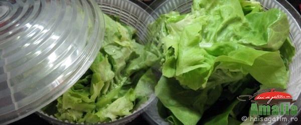 Salata cu peste, rosii si ciuperci (salata cu ciuperci si peste 1)   imagine reteta