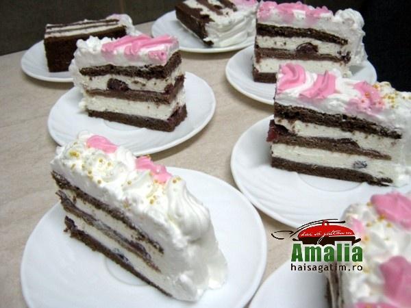 Tort cu zmeura si frisca (Tort cu visine 0)   imagine reteta
