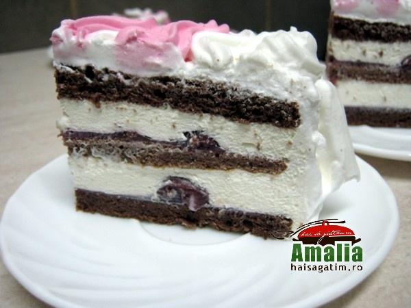 Tort cu zmeura si frisca (Tort cu visine 1)   imagine reteta