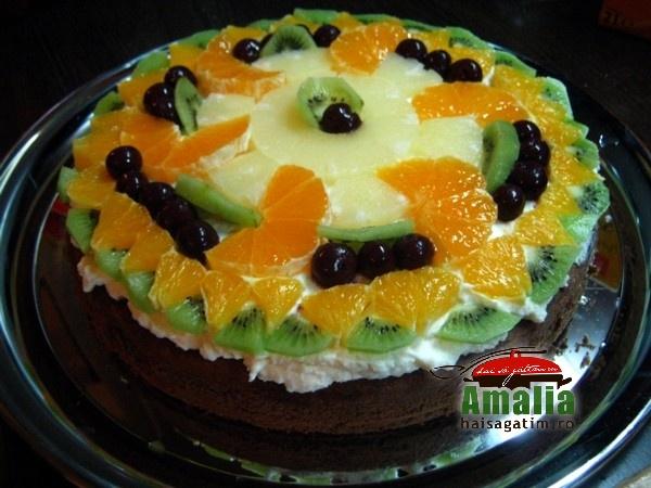 Tort simplu cu branza de vaci (tort cu branza de vaci 1)   imagine reteta