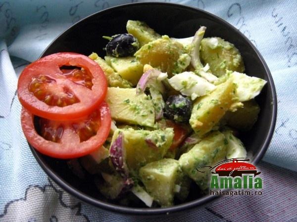 Salata de cartofi cu leurda (salata cu leurda 0)   imagine reteta
