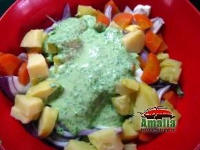 Salata de cartofi cu leurda (salata cu leurda 2 290x217)   imagine reteta