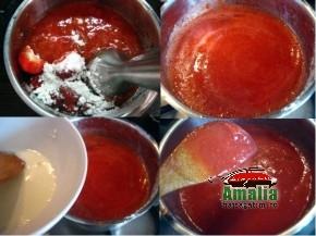 Tort cu jeleu de capsuni si crema de unt (Tort cu jeleu de capsuni 3 290x217)   imagine reteta