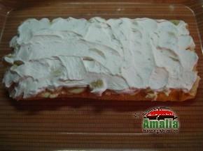 Tort Oaza cu crema de vanilie si fructe exotice (Asamblare tort 4 resize 290x217)   imagine reteta