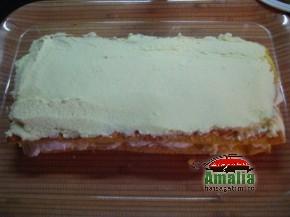 Tort Oaza cu crema de vanilie si fructe exotice (Asamblare tort 6 resize 290x217)   imagine reteta