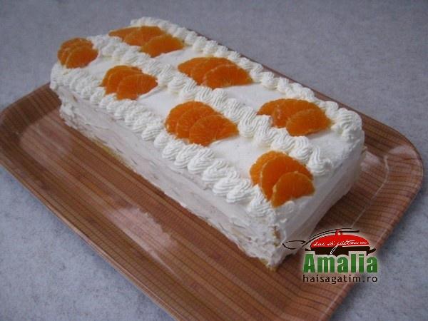 Tort Oaza cu crema de vanilie si fructe exotice (Tort Oaza 00)   imagine reteta