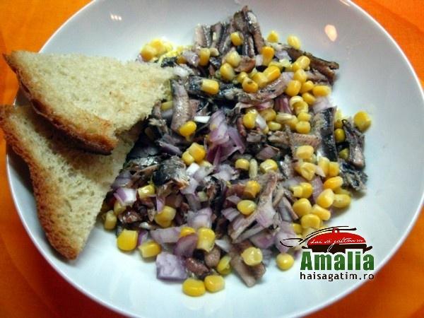 Salata cu peste si porumb dulce (Salata cu peste)   imagine reteta