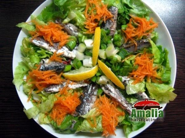 Salata cu peste, ceapa si morcovi (Salata cu peste si morcov 2014 03 03)   imagine reteta
