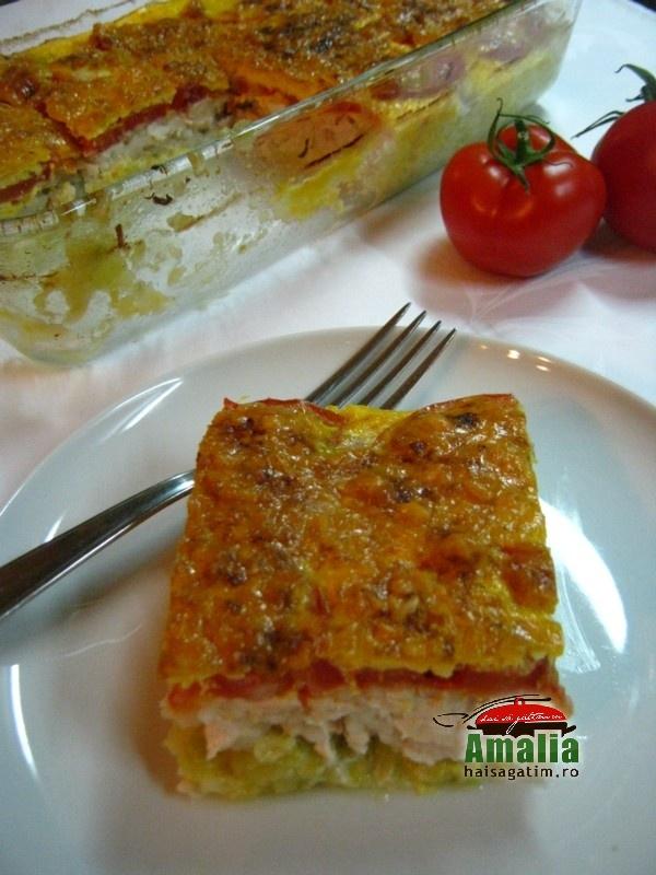 Caserola cu dovlecei, carne si orez (Caserola 0)   imagine reteta