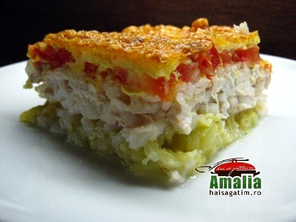 Caserola cu dovlecei, carne si orez (Caserola 01)   imagine reteta