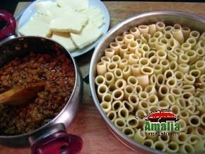 Paste rigatoni cu carne la cuptor ( pasta pie ) (Rigatoni pasta pie 1 290x217)   imagine reteta