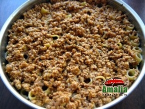 Paste rigatoni cu carne la cuptor ( pasta pie ) (Rigatoni pasta pie 3 290x217)   imagine reteta