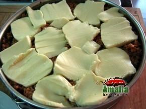Paste rigatoni cu carne la cuptor ( pasta pie ) (Rigatoni pasta pie 4 290x217)   imagine reteta