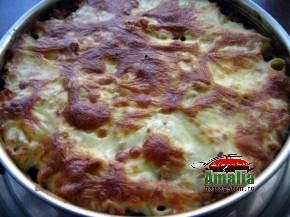 Paste rigatoni cu carne la cuptor ( pasta pie ) (Rigatoni pasta pie 5 290x217)   imagine reteta