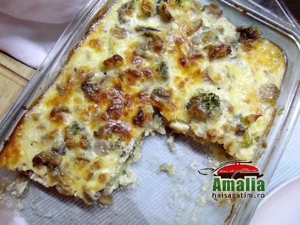 Broccoli cu ciuperci la cuptor (Broccoli cu ciuperci la cuptor 01 014)   imagine reteta