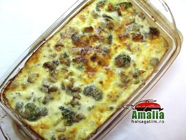 Broccoli cu ciuperci la cuptor (Broccoli cu ciuperci la cuptor 6 013)   imagine reteta